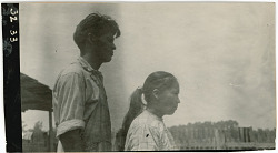 Photograph with Will Jim, 29 Years Old, and (35) Louisa Jim, 26 Years Old 1925
