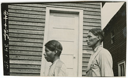 Photograph with Will Wilson, 37 Years Old, and Thompson Barney, 19 Years Old 1925