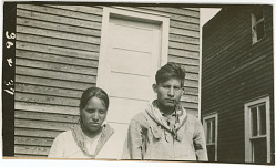 Photograph with Katie Joshua, 21 Years Old, and Mole Tubbee, 23 Years Old 1925