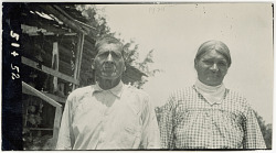 Photograph with Wilson Jim, 67 Years Old, and (52) Martha Jim, 58 Years Old 1925