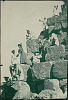 images for Group of Men, Dragomen, Hauling Non-Native Women Up Stone Blocks of Pyramid 1904-thumbnail 2