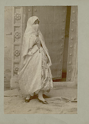 Portrait of Veiled Woman from North Africa in Costume n.d