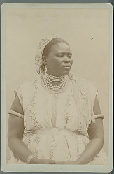 Portrait of Woman from North Africa in Costume n.d