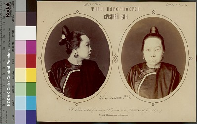 Portrait (Profile) of Woman, 35 Years Old, from Kuldja (Now Yining), Ili Colonial Dependency Between Sungaria and Chinese Turkestan (Now Sinkiang, China), in Costume 1917