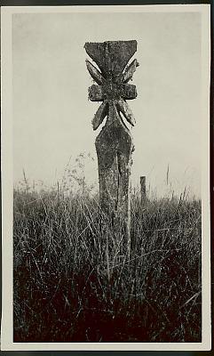 Carved Wood Cross in Cemetery MAR 1922