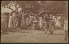images for Group in Costume with Baskets and Trays of Food at Outdoor Market n.d-thumbnail 1