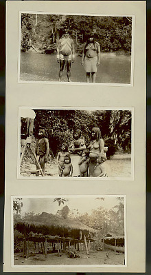 Choco Man Wearing Silver Ear Plugs and Arm Cuffs and in Ceremonial Costume and Choco Woman in Costume at River's Edge 1923