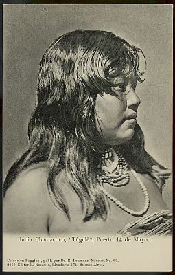 Portrait of Tugule, Young Woman, 16-17 Years Old, in Costume And Wearing Bead Necklaces (Profile) 1900