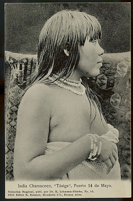 Tasga, Young Woman, in Costume with Bead Necklaces and Bracelets (Profile) 1904