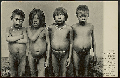 Four Boys, Two with Necklaces 1904