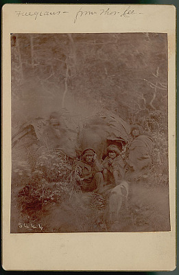 Group in Costume, Woman with Infant on Back, Outside Toldo (Skin and Pole Tent) 1888