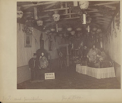 Interior at Japan Old and New Exhibit Showing Dioramas And Photographs 1893