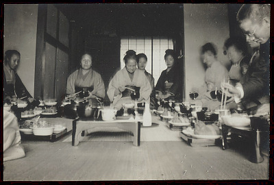 Kurodas at Tiffin (Lunch) After Service for Dead 1903