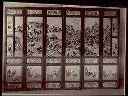 Screen, Porcelain:Wood:Paint:from Royal Palace, Seoul, Korea n.d