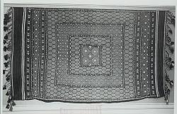 Carpet, Wool?:Fringed:Geometric Design n.d