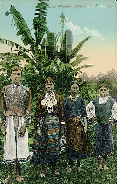 images for Man and Three Women in Costume Near Banana Trees n.d