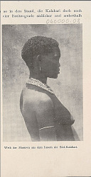 Young Woman from Southern Kalahari Wearing Ornaments (Profile View) 1903