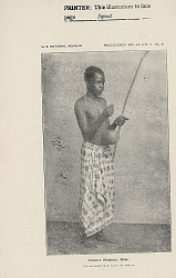 Jeremiah from Angola, Africa, in Costume, Playing Hunga (Musical Bow) n.d