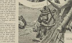 Three Aged Bushmen Building Grass Shelter SEP 1936