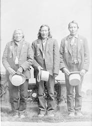 Medicine Bull (Brule), Standing Cloud (Brule), and Lt Henry Bullhead (Brule) 1888