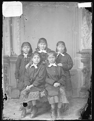 Portrait of Group of Girls 1879