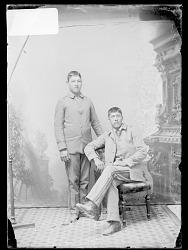 Portrait of John Elm and Adam Metoxen, Students 1879
