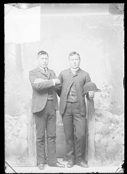 John Short Nose and Francis Lee, Carlisle Students DEC 1888