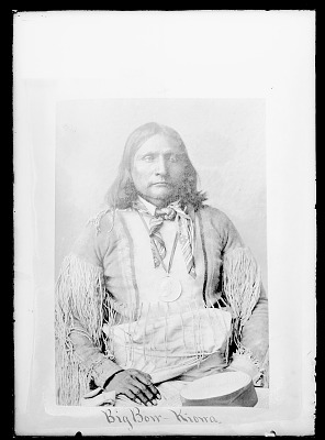 Chief Big Bow in Native Dress and Wearing Peace Medal n.d