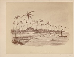 Final Council with Samoan Chiefs 07 OCT 1873 Photomechanical/Painting