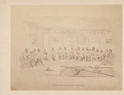 Council with Samoan Chiefs 19 AUG 1873 Painting/Photomechanical
