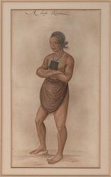 """""""A Chiefe Herowan"""" 1889 Painting/Photomechanical"""