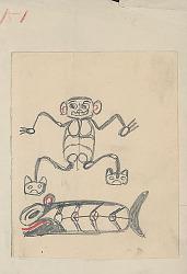 """""""Hawina-Witl"""" 1895 Drawing"""