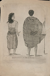 """Hawaiian Costume"" n.d. Lithograph"