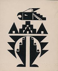 Geometrical Birdlike Design n.d. Drawing