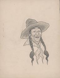 Portrait of Indian Man in Western Dress n.d. Drawing