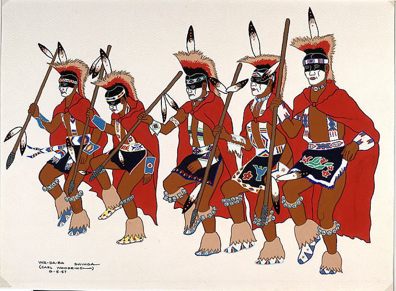 Image 1 for Kiowa Blackfoot Society Dance 05 AUG 1957 Painting