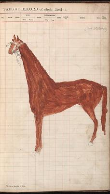 Anonymous Kiowa drawing of a horse, ca. 1884-1897