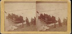 """Oglala Indians crossing the North Platte River"""
