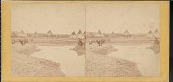 """Indian encampment near Fort Laramie"""