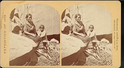 """""""Navajo Indian squaw, and child, at their home in Canon de Chelle"""""""