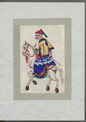 Man on horseback late 19th century