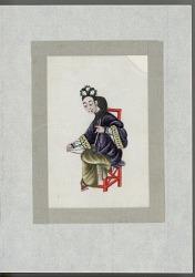 Woman playing the hu-gin late nineteenth century