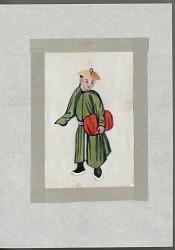 Man with bundle late nineteenth century