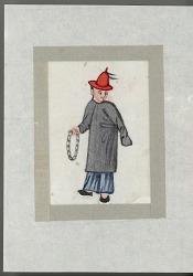Man with tambourine or chain late nineteenth century