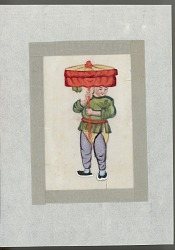 Man with parasol late nineteenth century