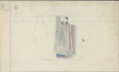 Anonymous Cheyenne drawing of courting scene, ca. 1889