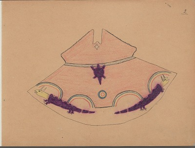 Charles Murphy drawing of tipi design, ca. 1904-1906