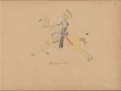 Carl Sweezy drawing of warrior with shield, 1904