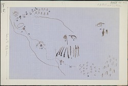 Anonymous Assiniboine drawings of pictographs describing a battle scene, ca. 1853