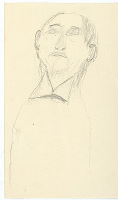 Anonymous drawing, possibly Cheyenne, of man, 1879